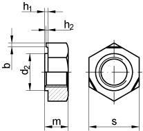 schwei muttern din 929 m3 stahl blank kp 10916003. Black Bedroom Furniture Sets. Home Design Ideas